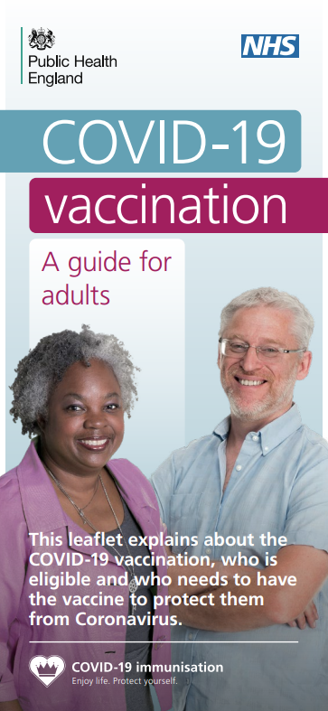 Image of COVID-19 Vaccination Information Leaflet for Adults