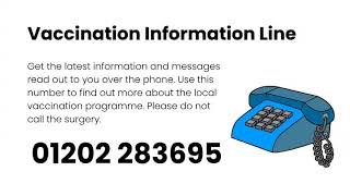 Community Vaccination Information Line 01202 283695